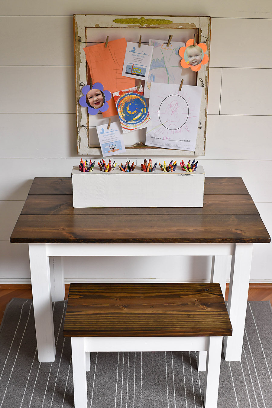 Picture of: How To Make A Kid S Farmhouse Bench Our Handcrafted Life