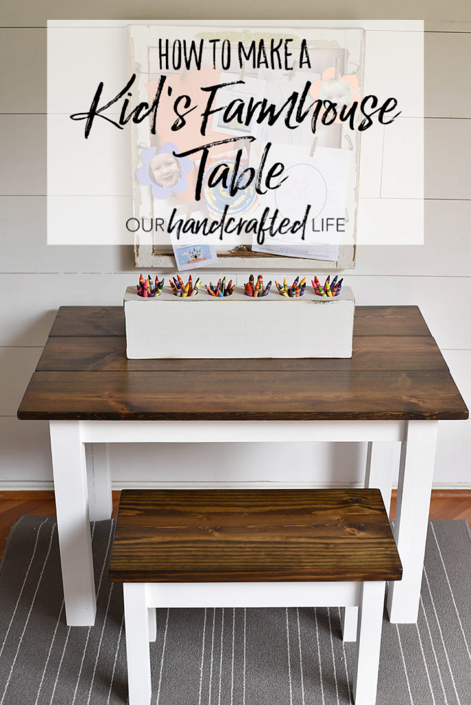 How To Make A Diy Farmhouse Kid S Table