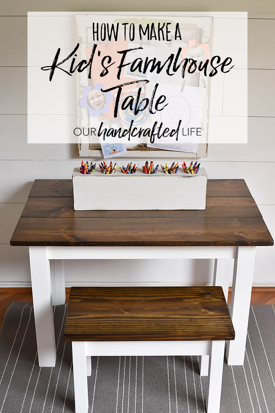 Sensational How To Make A Diy Farmhouse Kids Table Our Handcrafted Life Bralicious Painted Fabric Chair Ideas Braliciousco