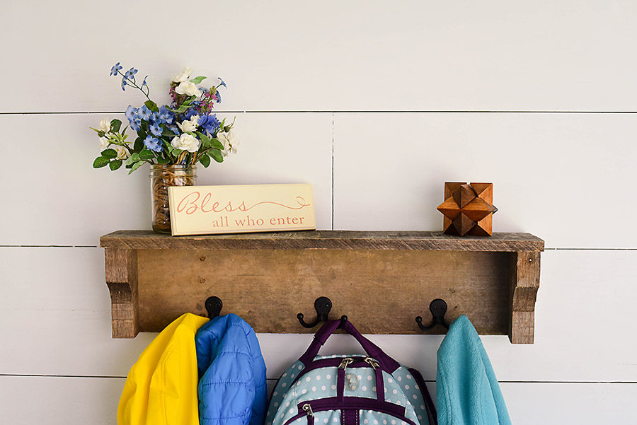 DIY Rustic Coat Rack from Pallet Wood - Our Handcrafted Life