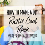 DIY Rustic Coat Rack from Pallet Wood