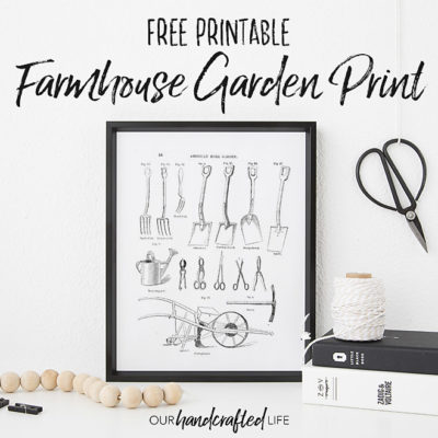 Farmhouse Garden Tools Book Page Print - Our Handcrafted Life