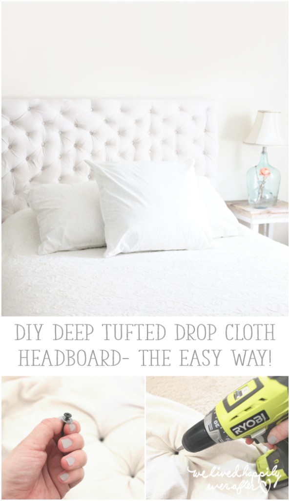 Tufted Headboard - We Lived Happily Ever After
