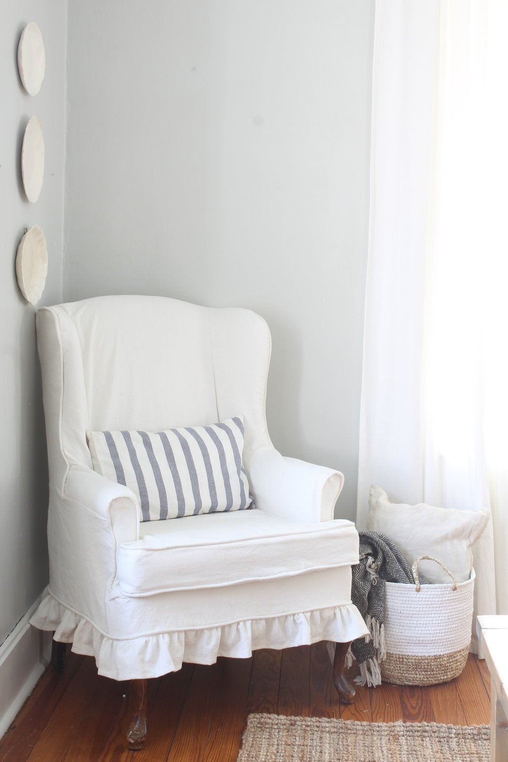 Wingback Chair Slipcover - Farmhouse on Boone
