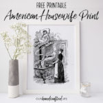 Free Printable Farmhouse Book Page Print – American Housekeeper