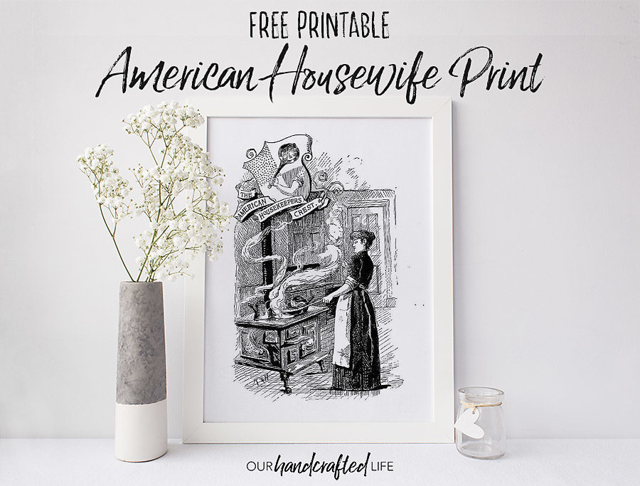 American Housekeepers Farmhouse Book Print - Our Handcrafted Life