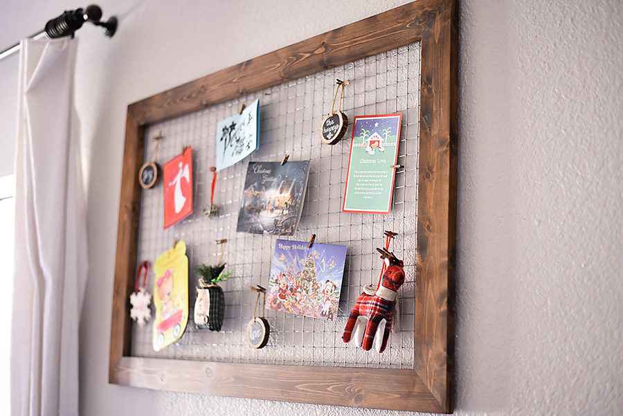 DIY Wood and Chicken Wire Christmas Card Holder | Our Handcrafted Life