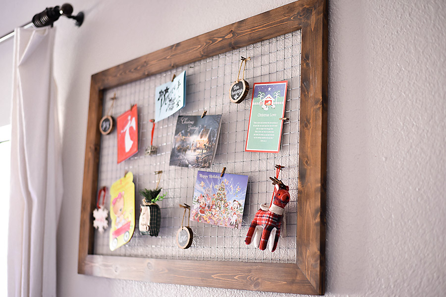 DIY Wood And Chicken Wire Christmas Card Holder | Our Handcrafted Life ...