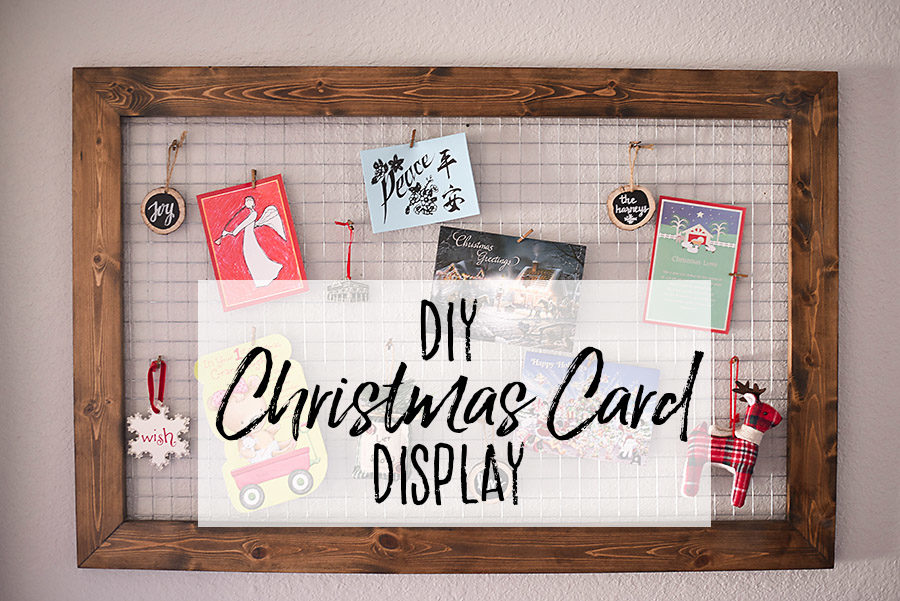 DIY Rustic Farmhouse Christmas Card Display | Our Handcrafted Life