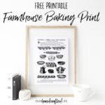 Vintage Farmhouse Baking Book Page Print - Our Handcrafted Life