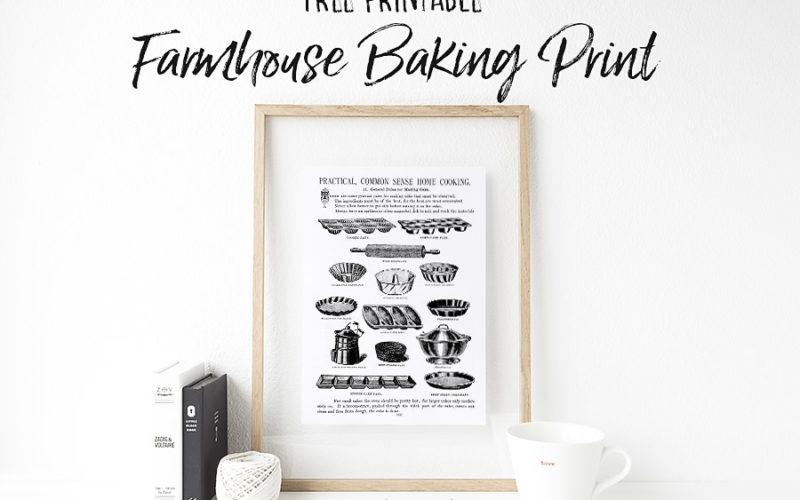Vintage Baking Tools Print
