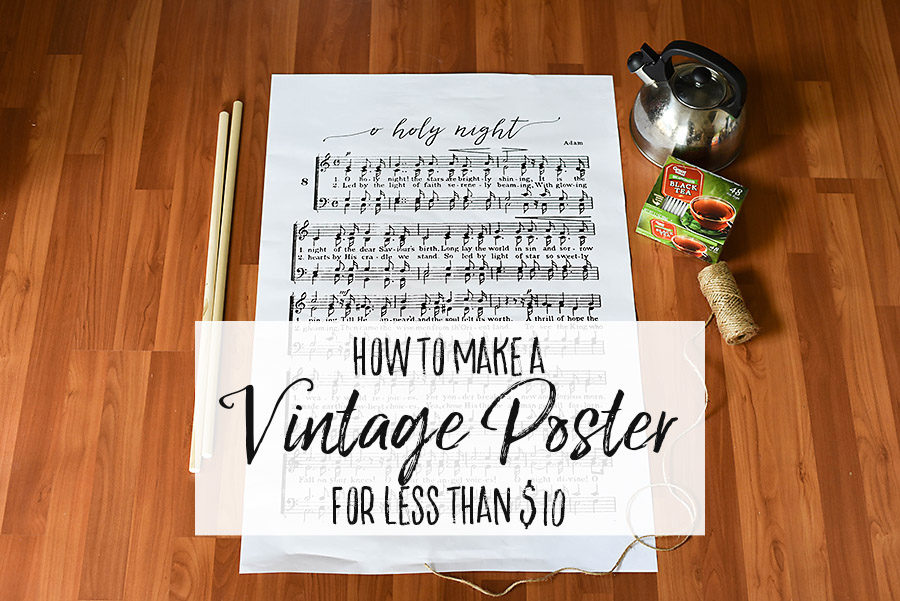DIY Vintage Poster Frame - Our Handcrafted Life