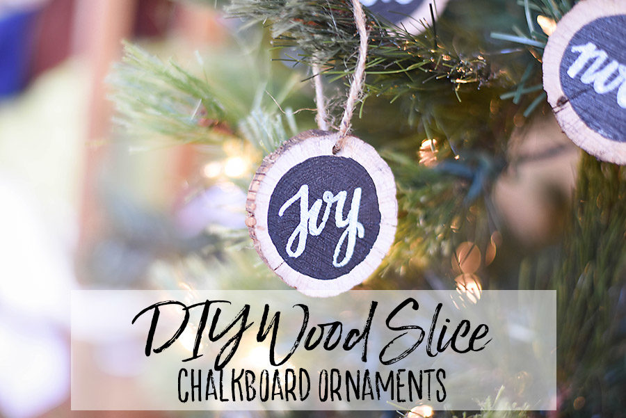 DIY Rustic Wood Slice Ornaments | Our Handcrafted Life