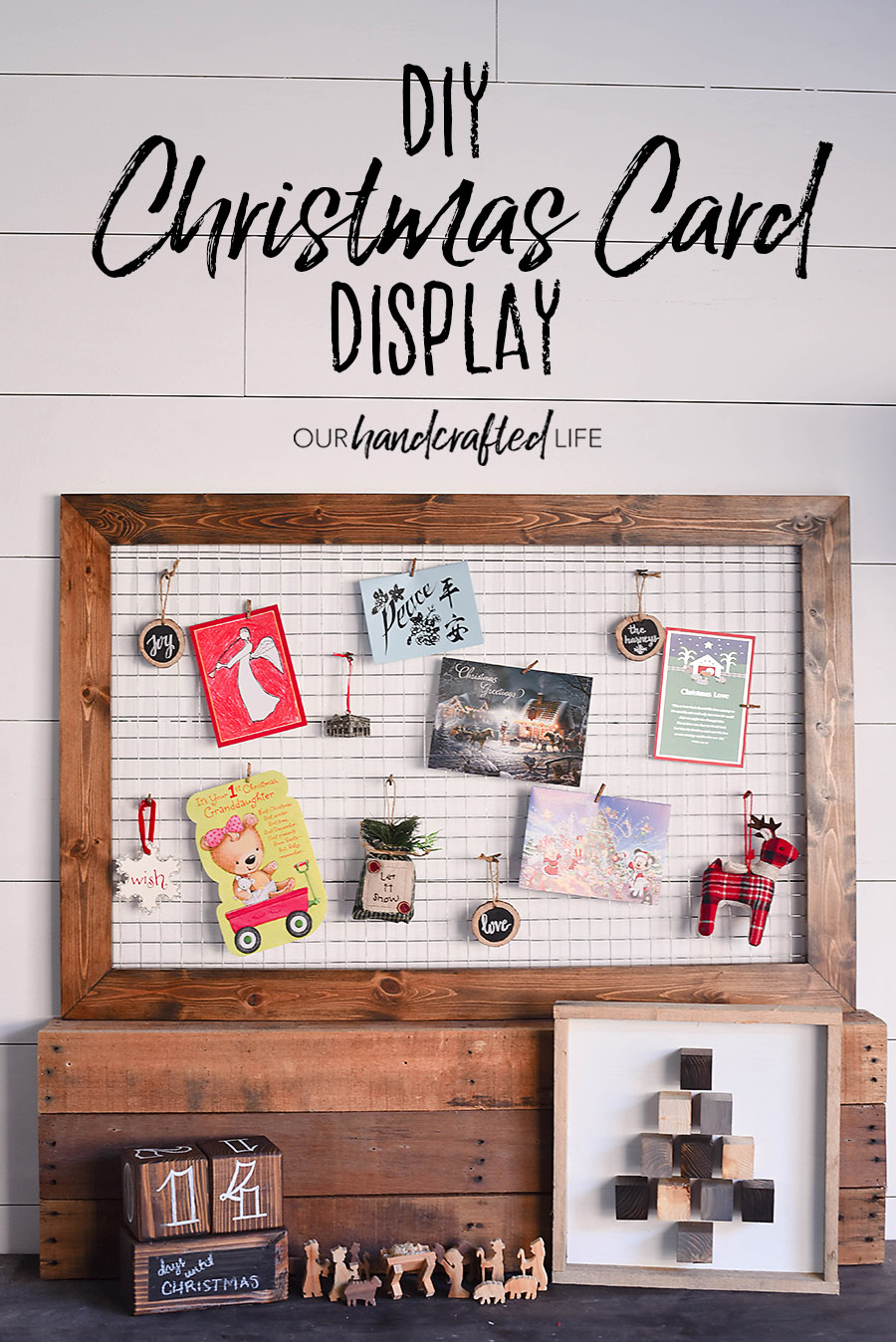 Etonnant DIY Chicken Wire Christmas Card Holder