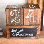 DIY Christmas Countdown Blocks