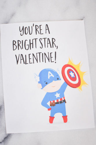 Marvel The Avengers Super Hero Valentines Day Cards | Our Handcrafted Life