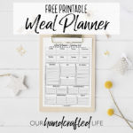Printable Meal Planner and Grocery Shopping Checklist - Our Handcrafted Life
