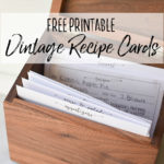 Free Printable Vintage Farmhouse Recipe Cards