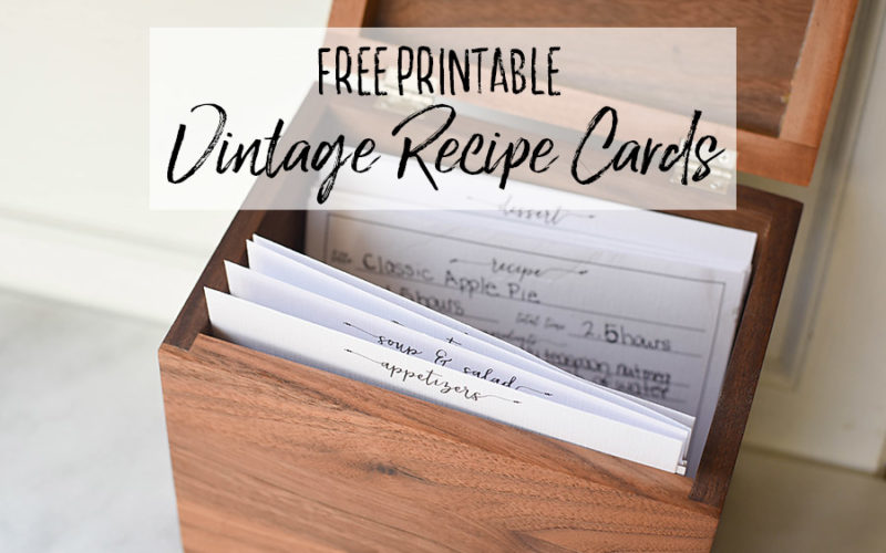 Free Printable Farmhouse Recipe Cards - Our Handcrafted Life