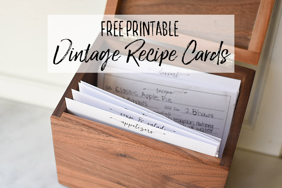 picture regarding Free Printable Vintage Images referred to as Free of charge Printable Typical Farmhouse Recipe Playing cards - Our