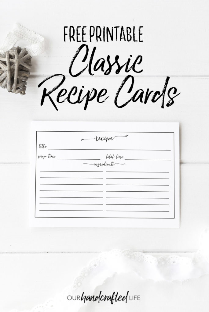 vintage recipe cards to print