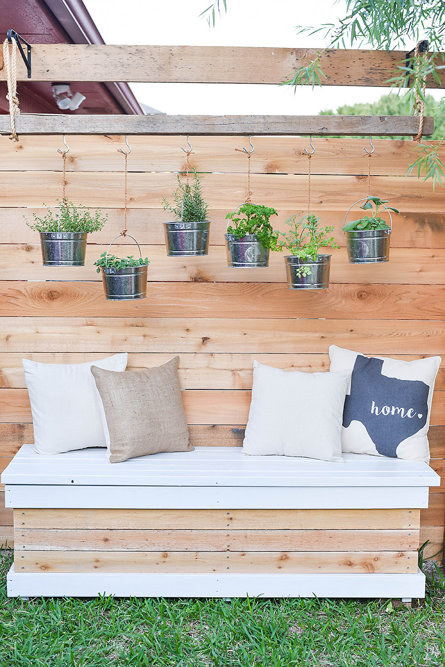Outdoor Storage Bench Diy Backyard Box With Hidden Storage Our Handcrafted Life