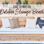 Outdoor Storage Bench – DIY Backyard Box with Hidden Storage