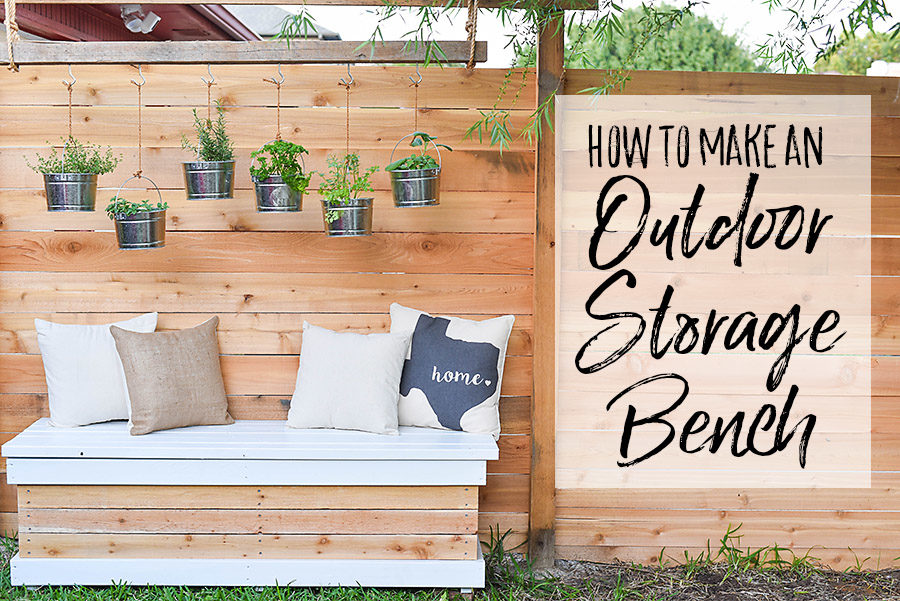 DIY Outdoor Storage Bench - Backyard Box with Hidden Storage - Our Handcrafted Life