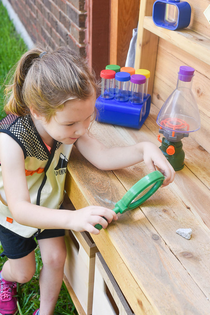 STEM Pretend Play - Outdoor Science Discovery Center - Our Handcrafted Life