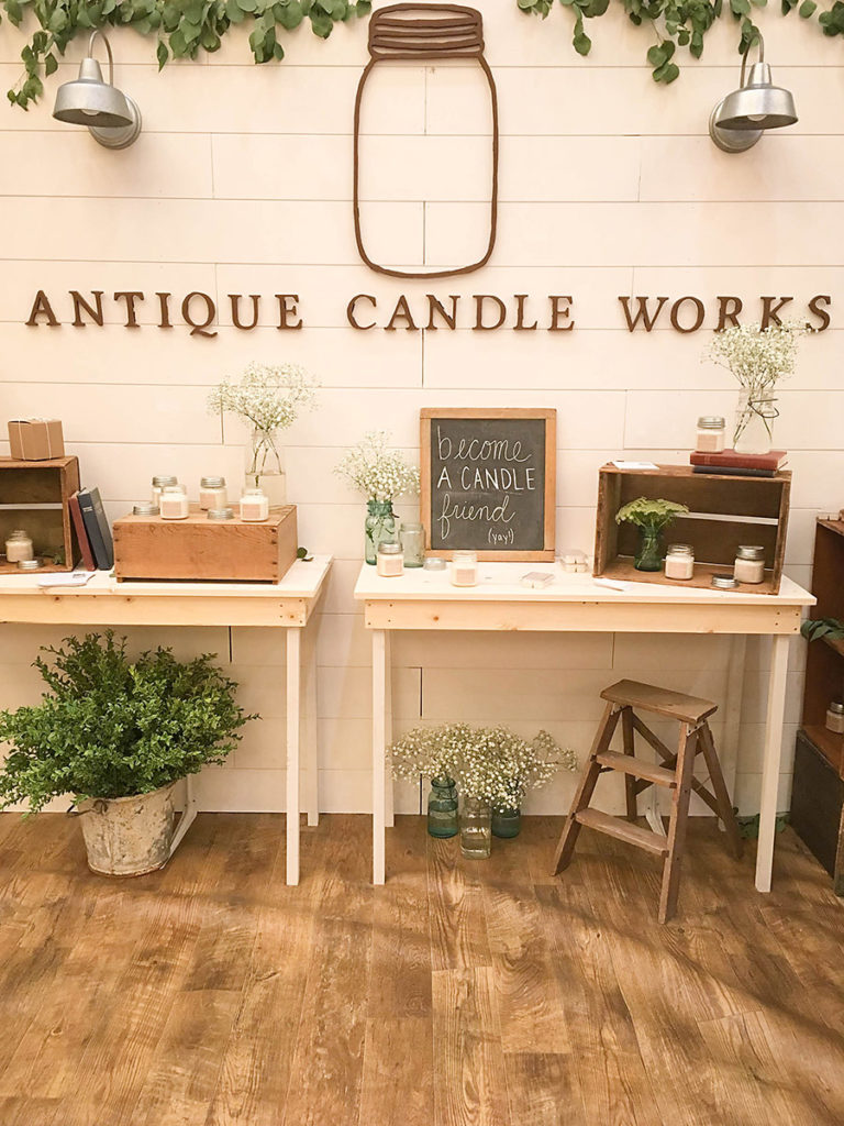 Antique Candle Works Booth - Haven Conference 2018 - Our Handcrafted Life