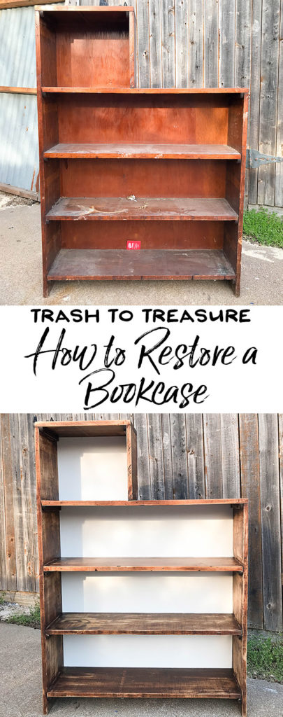 How to Refurbish an Old Bookcase - Our Handcrafted Life - Before and After