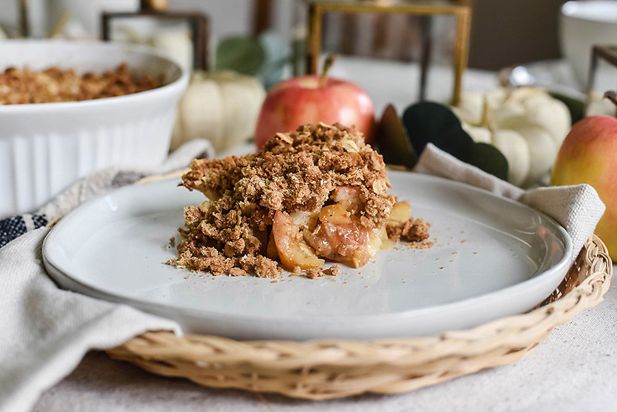 Apple Crisp and Homemade Whipped Cream - Our Handcrafted Life