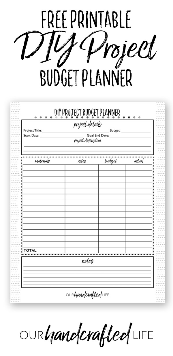 image regarding Diy Planner Printables known as Do-it-yourself Task Planner - No cost Printable Venture Planner - Our
