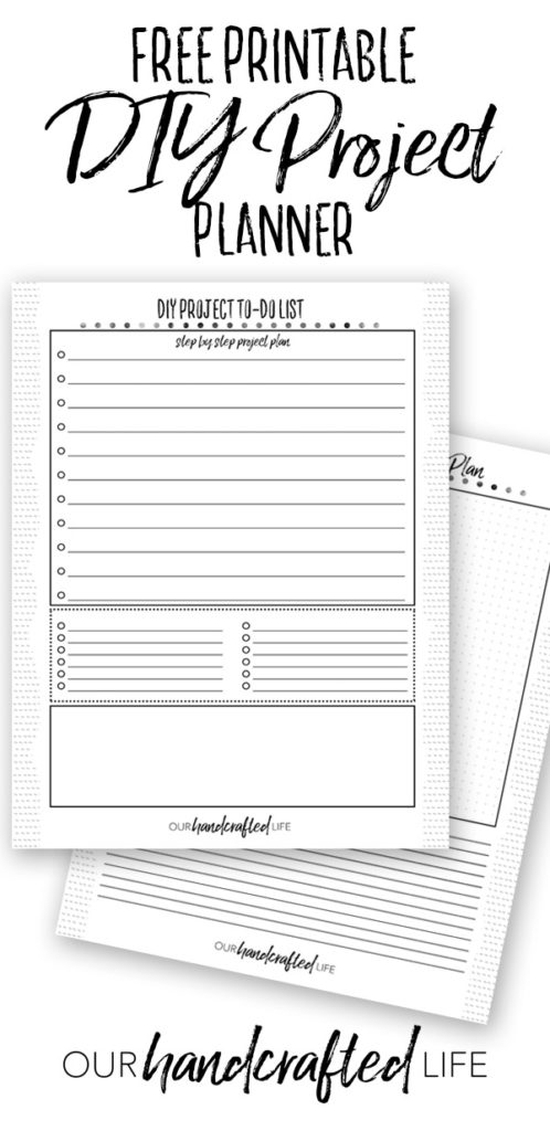 DIY Project Planner - Our Handcrafted Life Pinterest