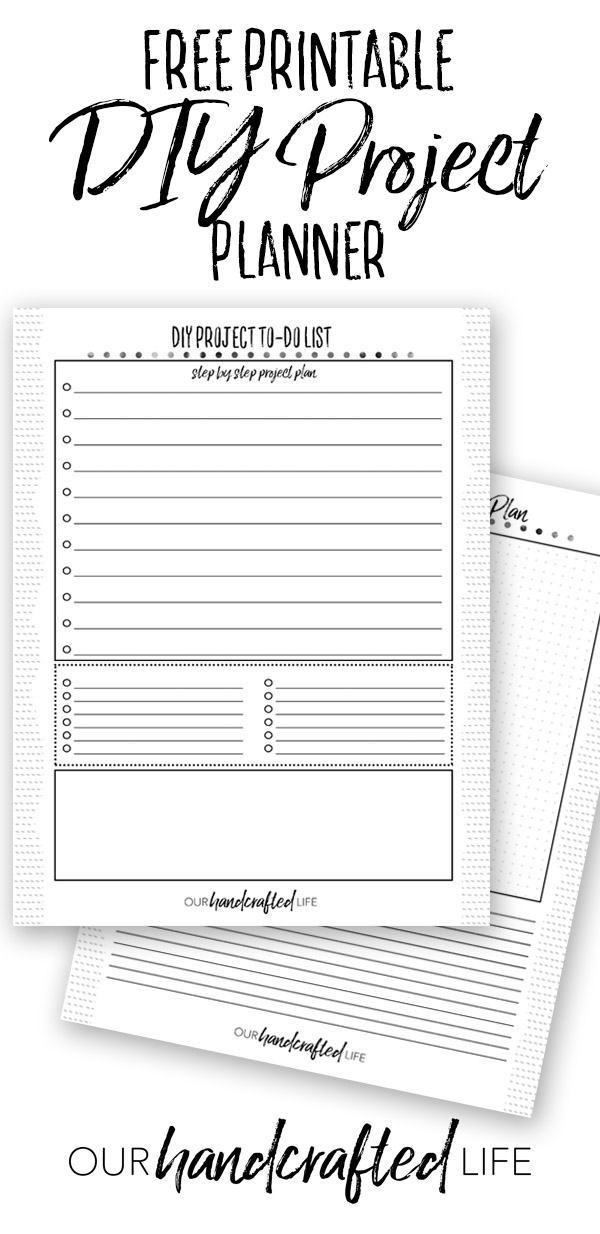 photograph relating to Free Printable Project Planner named Do it yourself Job Planner - Free of charge Printable Task Planner - Our