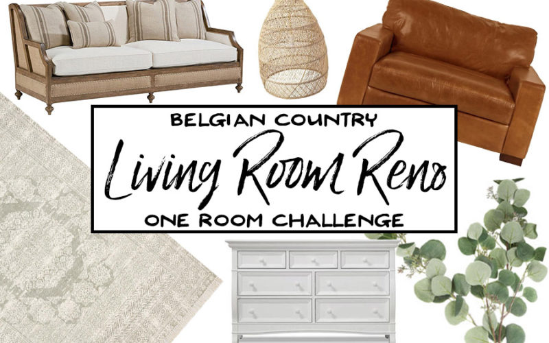 Belgian Country Living Room Reno - One Room Challenge The Plan - Our Handcrafted Life
