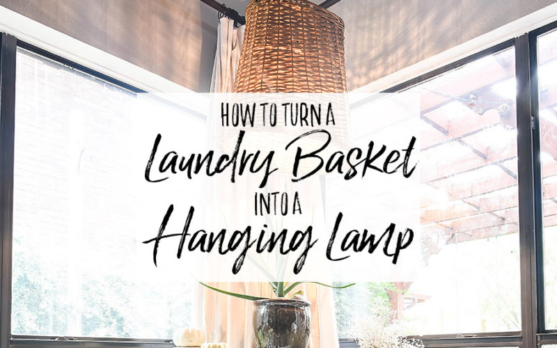 DIY Hanging Basket Lamp - Our Handcrafted Life