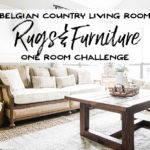 One Room Challenge - Living Room Rugs and Furniture - Our Handcrafted Life