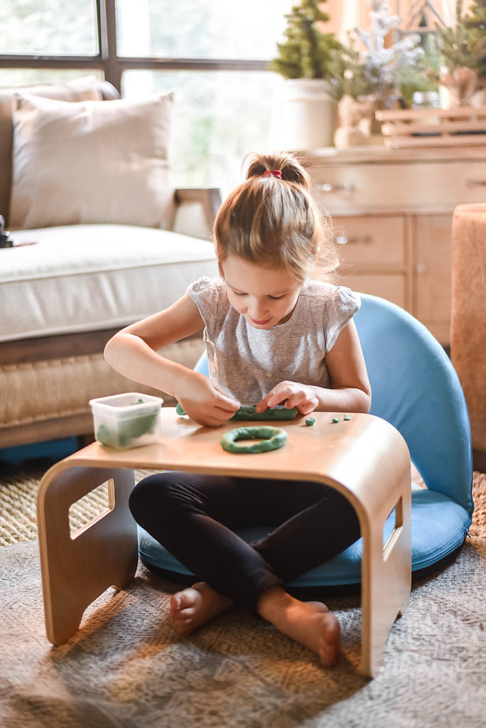 Lakeshore Learning Flex Space Comfy Seat and Student Lap Desk - Fewer Better Toys Gift Guide - Our Handcrafted Life