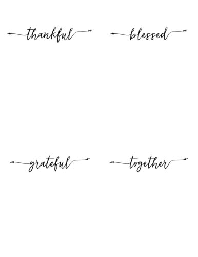 Free Printable Thanksgiving Place Cards - Our Handcrafted Life