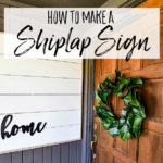 How to Make DIY Framed Shiplap – A Farmhouse Front Porch Idea