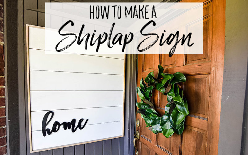 How to Make DIY Framed Shiplap – A Farmhouse Front Porch Idea