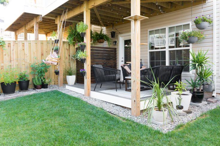 My Tiny Backyard & Garden Update // Small Backyard Design Ideas