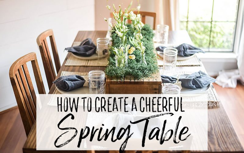 How to Create a Floral Spring Table Setting