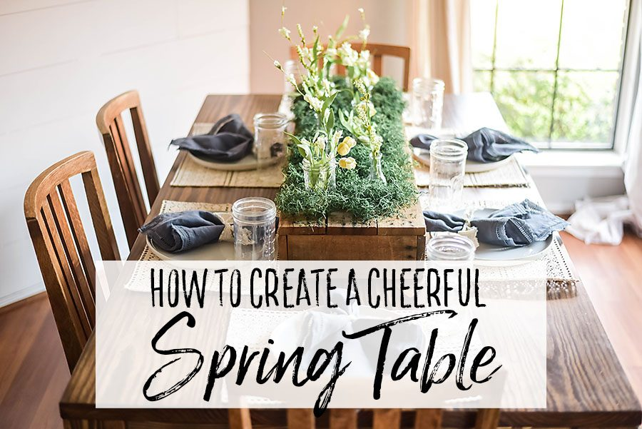 Spring Tablescape - Our Handcrafted Life