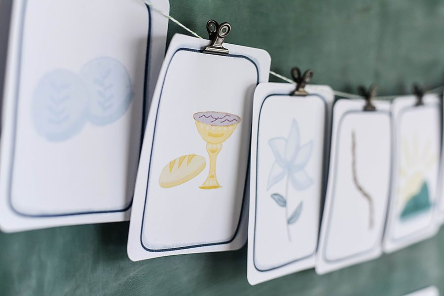 Watercolor Easter Advent Flash Cards - Our Handcrafted Life