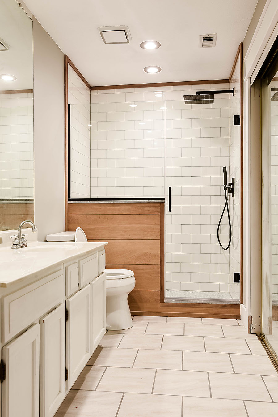 Master Bathroom Renovation Converting A Bathtub Into A
