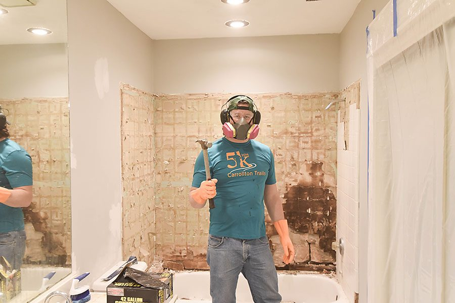 Master Bathroom Tiled Walk In Shower Renovation - Our Handcrafted Life