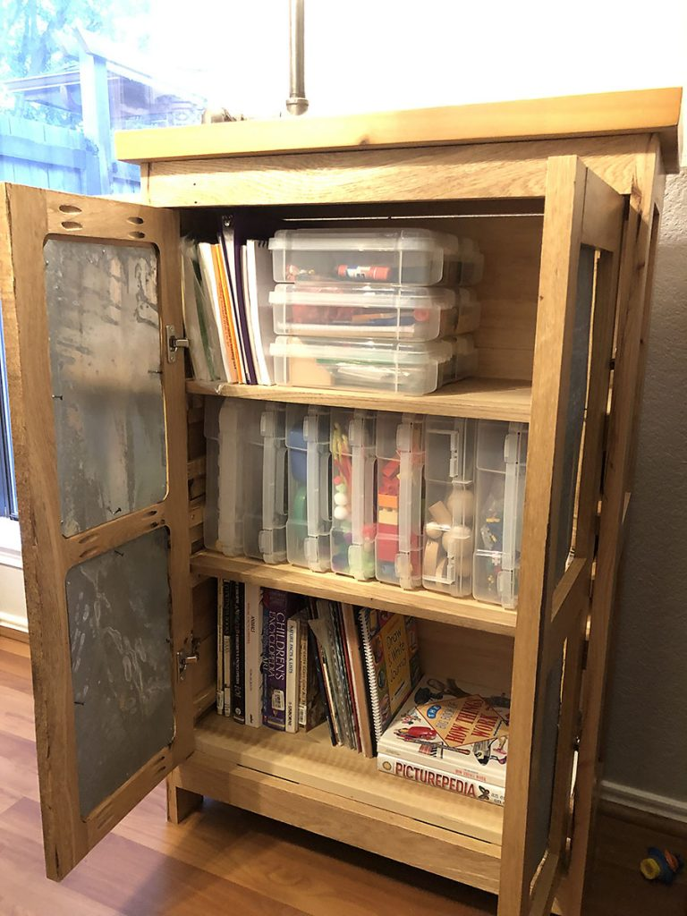 Homeschool Cabinet Organization - Our Handcrafted Life copy