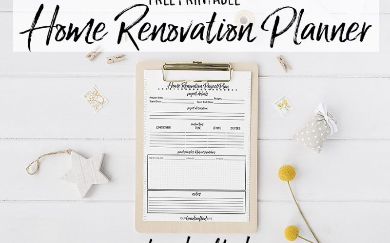 Home Renovation Planner - Our Handcrafted Life